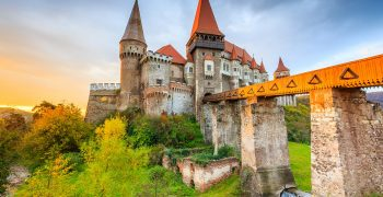 Hunyad Castle - Corvin's Castle in Hunedoara, Romania.