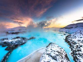 Blue Lagoon hot spring spa Iceland